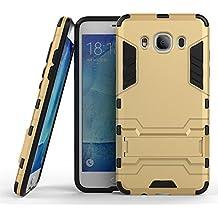 Voguecase® Para Samsung Galaxy J5 2016 Funda,(2 en 1 soporte-dorado) 2 en 1 Diseño de doble capa híbrido Defender Carcasa Duro Tapa Case Cover foldaway espalda incorporado soporte case para Samsung Galaxy J5 2016 + Gratis aguja de la pantalla stylus universales