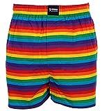 HAPPY SHORTS Webboxer Herren Boxer Motiv Boxershorts FARBWAHL , Grösse:XL - 7 - 54, Präzise Farbe:Stripes - Streifen