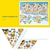 Emoji Themed Party Geschirr Set - Hanmun KK17002 Banner Hüte Einladung Tasche Platte und mehr Beliebtesten 90 stücke Dekoration Geschirr Kit für Kinder Party Feier Vergleich