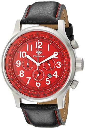 Wellington-Orologio da uomo al quarzo con Display con cronografo e braccialetto in acciaio INOX, WN 302-142