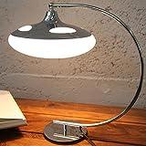 Design Tischlampe LUNA LOGO Tischleuchte Art Deco Stil Schreibtisch Büro Lampe Schreibtischlampe