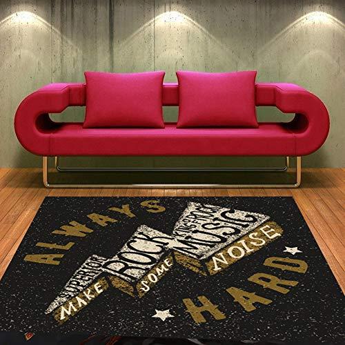 ZYTFC Dicke Teppichmatte rutschfeste, stoßdämpfende Trommeldecke Elektronische Trommel Jazz-Trommel Schalldichte Spezialtrommelmatte,E,140x200cm -
