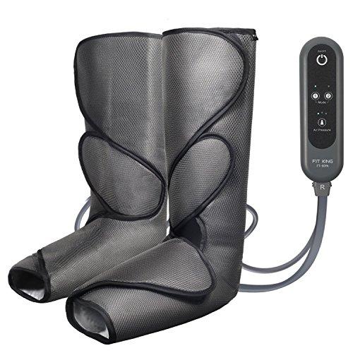 Luft Bein-massagegerät (Massage Gerät für Beine Kalb Fuß relaxsessel Massage mit Handheld Controller 2 Modi 3 Intensitäten(Dunkelgrau))