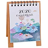 2020 Mini Desk Calendar Stand Up Desktop Animale Del Fumetto Della Carta Desk Calendario Giornaliero Planner Stand Calendario Up Desktop English