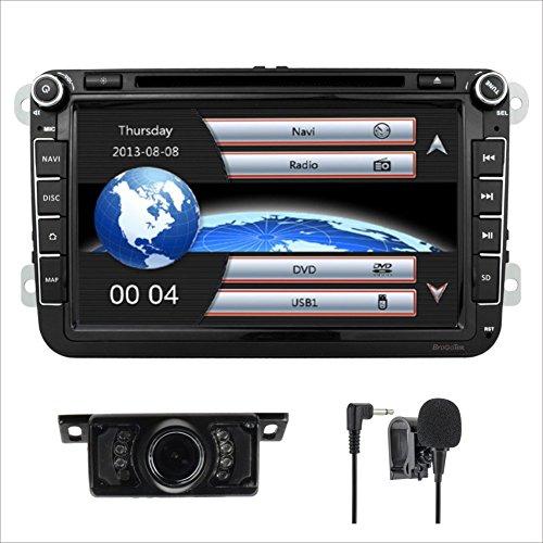 20,3 cm double DIN EN Dash Autoradio stéréo pour Volksvagen VW Golf Polo Passat Jetta Tiguan Skoda Seat avec lecteur DVD Navigation GPS vidéo audio FM Radio AM Bluetooth USB 3 G