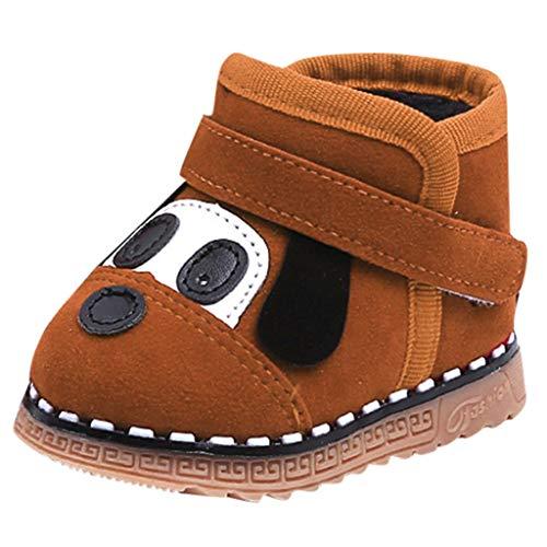 Vovotrade ❅ Bambino Appena Nato Cartone Animato Modello Cane Sneakers Baby Snowboots Plus. Scarpe in Velluto