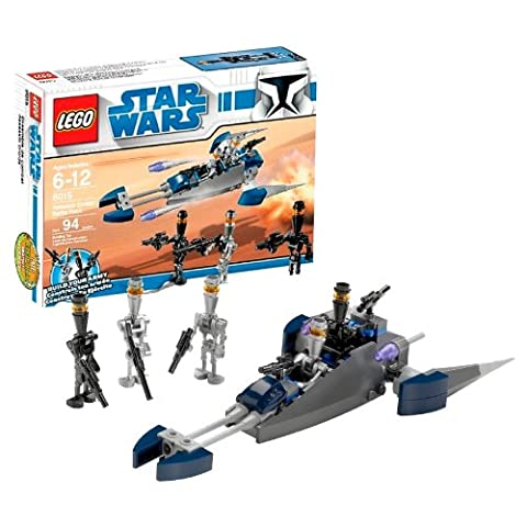 """Lego Year 2009 Star Wars Animated Series """"The Clone Wars"""" Battle Pack Set # 8015 - Assassin Droids Battle Pack with 3 Assassin Droid and 2 Elite Assassin Droid Minifigures and 2 Flick Fire Missiles (Total Pieces: 94) by LEGO"""