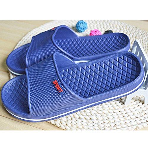 wyhweilong Pantoufles de Bain Unisexe Chausson de Salle de Bain Chaussures de Plage Tongs DIntérieur Sandales DÉté Anti Slip Bleu