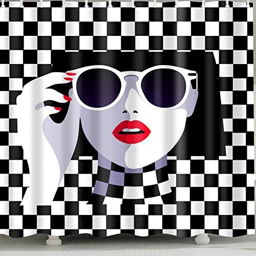 woman-wearing-sunglasses Vorhang für die Dusche 1PC für Home und Badezimmer