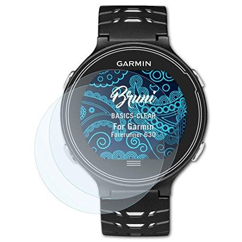Bruni Schutzfolie kompatibel mit Garmin Forerunner 630 Folie, glasklare Bildschirmschutzfolie (2X)