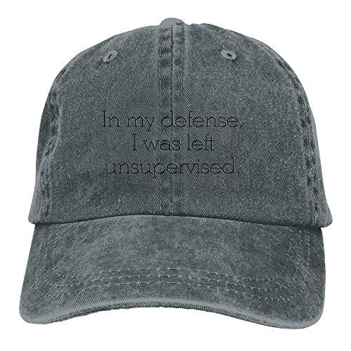 Defense I was Left Unsupervised Flex Denim Cap Trucker Cap Ash