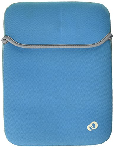 Kroo Reversible Sleeve für Netbooks bis 10 Zoll (ND09MDBG, Blau/Grün) Kroo Reversible Sleeve