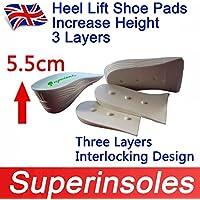 Unisex weiß drei Schichten Heel Lift, erhöhen Körpergröße größere Pads Schuh preisvergleich bei billige-tabletten.eu