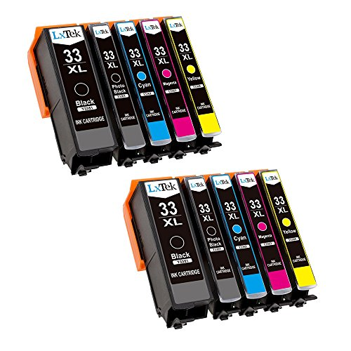 LxTek Ersatz für Epson 33 33XL Druckerpatronen Kompatibel mit Epson Expression Premium XP-540 XP-530 XP-830 XP-630 XP-635 XP-640 XP-645 XP-900 (2 Schwarz, 2 Photo Schwarz, 2 Cyan, 2 Magenta, 2 Gelb)