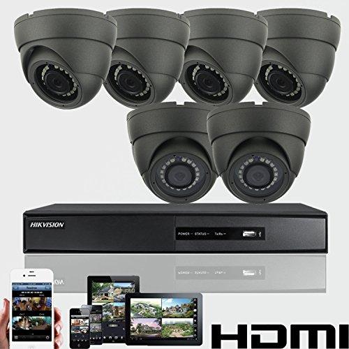 6 x HD 1080P cámara de seguridad 2 4 MP domo Hikvision DVR 8 ch HDMI P2P 2  TB Disco duro