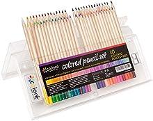 Lápices de Colores Colore ? Set Premium de Lápices de Colores Pre-afilados para Colorear Dibujos ? Borrador y Sacapuntas GRATIS - Gran Complemento Artístico para Niños y Adultos ? 60 Colores