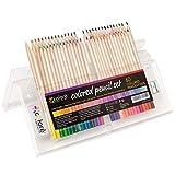 Colore Buntstifte – Vorgespitztes Farbmalstift Set fürs Zeichnen und Ausmalen von Seiten – KOSTENLOSER Radiergummi – Super Zubehör für den Schulbeginn, für Kinder und Erwachsene Zeichenblock 60 Farben