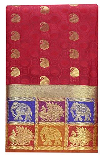 SARAVANABAVA SILKS Women's Art Silk Saree (Srbs000513_Cream-Green)