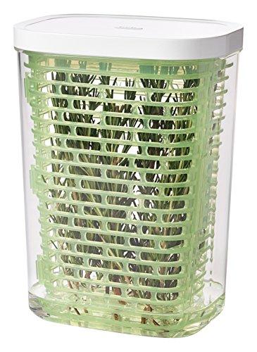 OXO Good Grips Greensaver Frischhaltebox für Kräuter 2.7 L, Kunststoff, Grün Herb Keeper