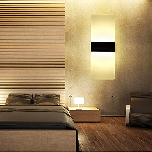 splink led wandleuchte modern acryl design aluminum. Black Bedroom Furniture Sets. Home Design Ideas