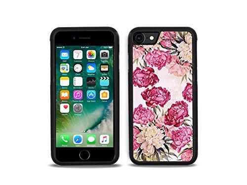 etuo Apple iPhone 7 - Hülle Hybrid Fantastic - Pfingstrosen - Handyhülle Schutzhülle Etui Case Cover Tasche für Handy