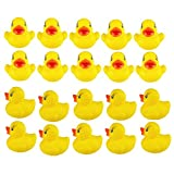 TREESTAR Toys mini Ducks Squeaky giallo di gomma simpatico giocattolo da mare Baby Shower Birthday party Gift 20PCS