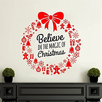 Rawpockets 'Believe in The Magic of Christmas' Wall Sticker (PVC Vinyl, 0.99 cm x 45 cm x 45 cm)