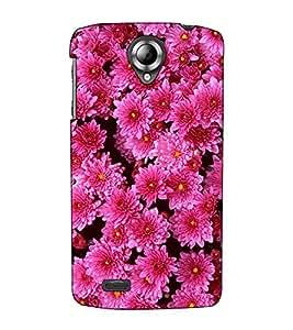 Fuson Designer Back Case Cover for Lenovo S820 (Pink Flowers theme)