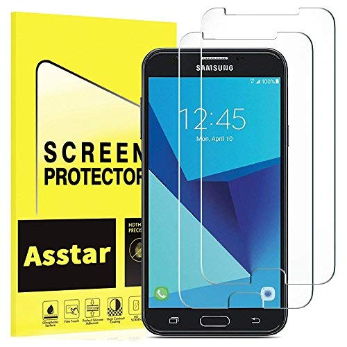[2 PACK] Asstar For Samsung Galaxy J7 V / J7V (Verizon) / Galaxy J7 Perx /  Galaxy J7 Sky Pro Screen Protector [Tempered Glass] 9H Hardness 2 5D