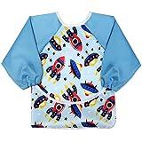 aviloo - Ärmel-Lätzchen für Babys - 100% wasserdicht und abwischbar - extra lang - mit Auffang-Tasche und Klettverschluss … (I)