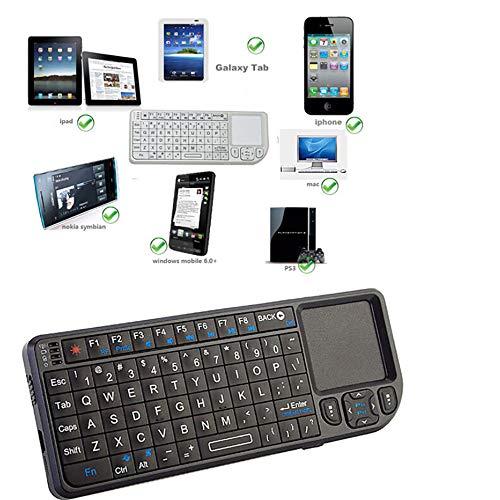 CCFCF Ultra-Slim Mini Wireless Touchpad Keyboard, All-in-One-Wireless-Tastatur mit integrierten in Multi-Touch-Trackpad für Smart TV HTPC PC Tablet Google Laptop Windows-Android