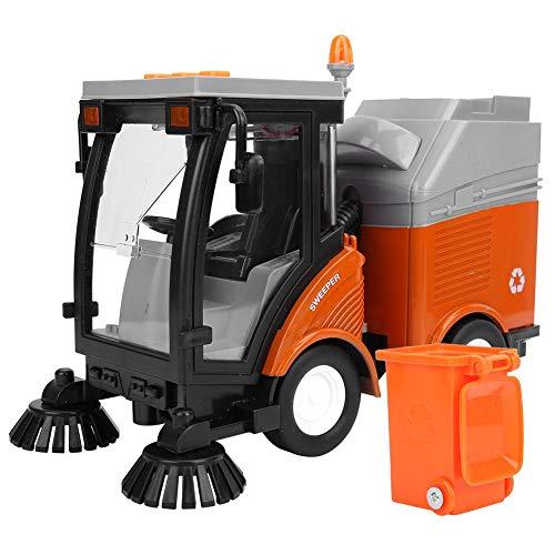 Jadpes Hygiene Auto Kehrmaschine Modell, Simulation Light Music Pull-Back-Motor Mit Taste Mülleimer Fahrzeug Spielzeug für Kinders Geburtstag
