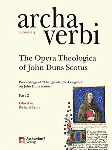 The Opera Theologica of John Duns Scotus: Proceedings of