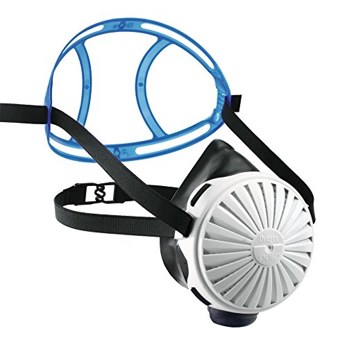 Dräger X-plore 2100 Halbmasken-Set inkl. 5 Partikelfiltern P3, Atemschutzmaske aus EPDM, Universalgröße