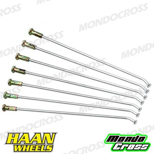 MONDOCROSS Kit completo raggi rinforzati HAAN WHEELS 21'' KAWASAKI KX 125 06-08 KX 250 06-08 KX 250 F 07-17 KX 450 F 06-17