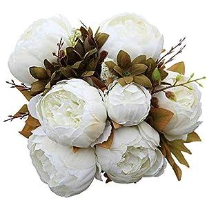 ASTARC 13 Flores Artificiales de Peonía, Rosas de Boda en Casa, Fiesta Nupcial Fiesta de Boda Fiesta en el Jardín…