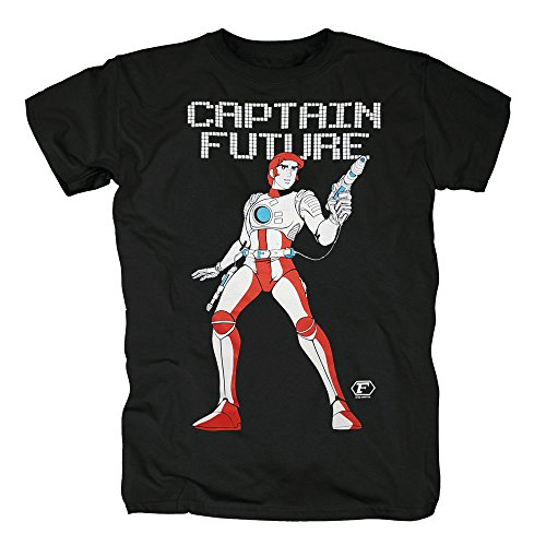 TSP Captain Future Motiv T-Shirt Herren Black