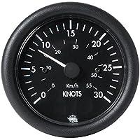 Spidometro 0-30 nodi 12 V nero English: Speedometer 0-30knot 12V black