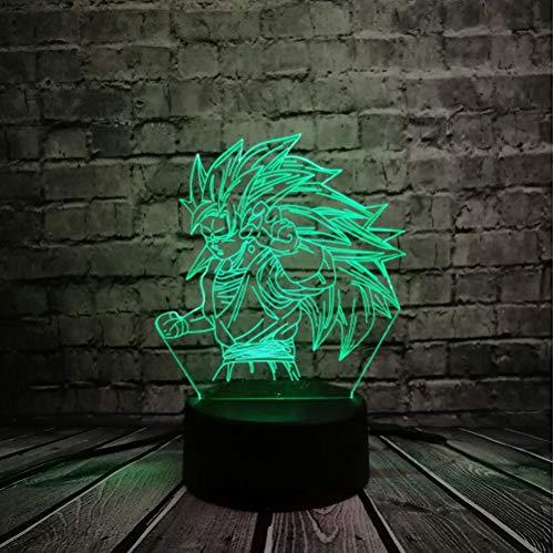 Dragon Ball Z 3d Night Light Led Son Goku Vs Jiren 3d Illusion Table Lamp Color Changing Luminaria Jiren Dragon Ball Lamp To Reduce Body Weight And Prolong Life Lights & Lighting