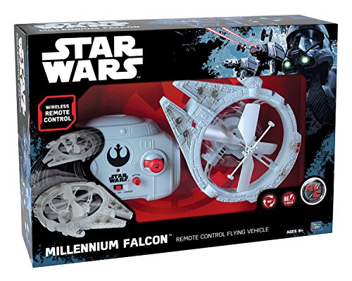 MTW Toys 13412 Remote-Controlled Flying Millennium Falcon, approx. 21 cm