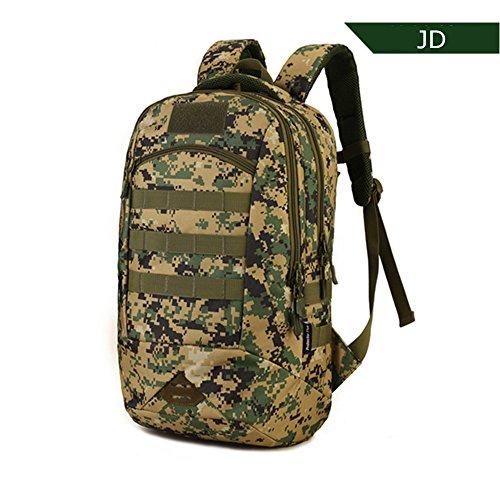 Cedaract militare tattico zaino piccolo zaino da trekking Outdoor escursionismo borsa zaino molle uomini/donne Dags per caccia viaggio 35L, BK JD