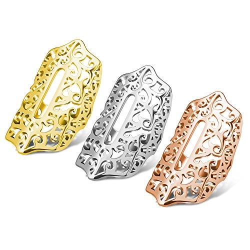 Flex 2 Armbänd Abdeckung Hülsenschutz Zubehör, CAM-ULATA Glänzendes Metall-Schmuck Schutz Hülle für Fitbit Flex 2 Fitness Armband, Silber + Gold + Roségold