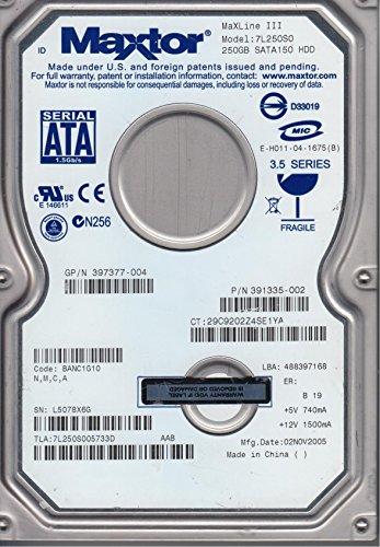 250GB Seagate Maxtor 7L250S0 MaXLine III, 3.5 interne Festplatte 7200 RPM, NEUW. -