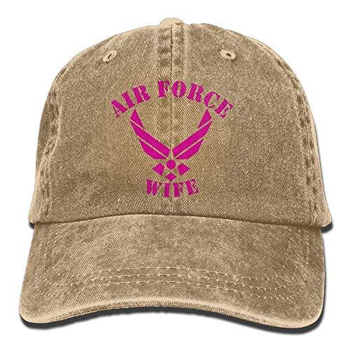 Preisvergleich Produktbild Voxpkrs Air Force Wife Unisex Sport Adjustable Structured Baseball Cowboy Hat DV2070