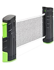 Relaxdays Filet rétractable portable pour tennis de table extensible Vert/Noir
