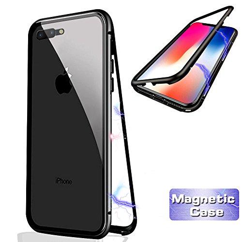 c408535371c8b Haobuy Magnetic Phone Case for iPhone X (for iPhone 7 Plus/8 Plus, Negro)