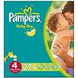 Pampers Baby Dry taille 4 (7 à 18 kg) Carry Paquet 6x27 Maxi par paquet