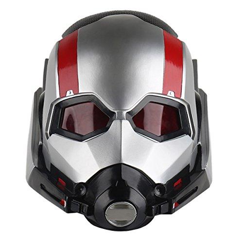 yacn Ant-Man Maske für Cosplay Kostüm, AntMann Scott Lang Maske Teeny, Adult Cosplay Helm als Halloween Anzieh (Ant Man Kostüm)