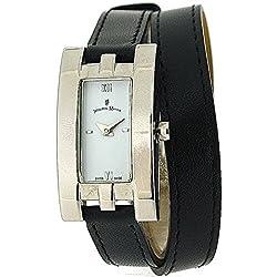 Jacques Du Manoir Ladies White Dial & Black Extra Long Multi-Wrap Strap Watch