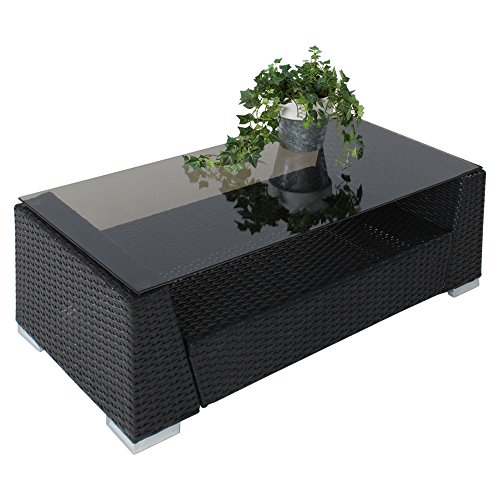 tectake hochwertige aluminium luxus lounge poly rattan sitzgruppe sofa rattanm bel. Black Bedroom Furniture Sets. Home Design Ideas